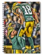 Green Bay Packers Team Art Spiral Notebook