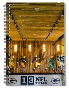 Green Bay Packers Uniforms Then And Now Spiral Notebook