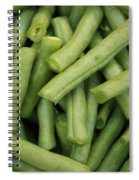 Green Beans Close-up Spiral Notebook