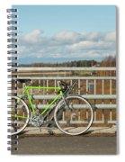Green Bicycle On Bridge Spiral Notebook