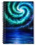 Green-blue Galaxy And Ocean. Planet Dzekhtsaghee Spiral Notebook