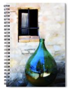 Green Bottle Italian Window Spiral Notebook