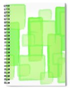 Green Boxes  Spiral Notebook