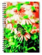 Green Butterfly Spiral Notebook
