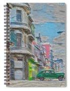 Green Car In Cuba Spiral Notebook
