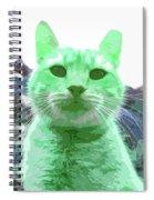 Green Cat Spiral Notebook