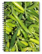 Green Chilis Spiral Notebook