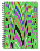 Green Color Abstract #140 Spiral Notebook