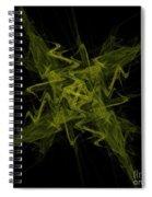 Green Crosshatch Scribble  Spiral Notebook