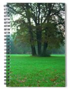 Green Dawn In Autumn Spiral Notebook