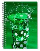 Green Dice Splash Spiral Notebook