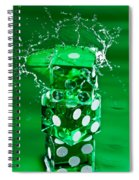 Green Dice Splash Spiral Notebook
