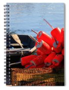 Green Dingy And Bouys Spiral Notebook