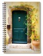 Green Door With Vine Spiral Notebook
