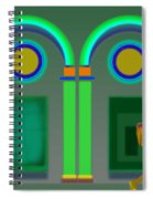 Green Doors Spiral Notebook