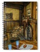 Green Dragon Fireplace Spiral Notebook