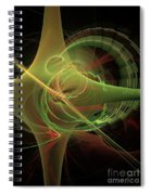 Green Energy Tunnel Spiral Notebook