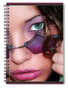 Green Eye'd Girl Spiral Notebook