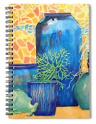 Green Fish And Friends Spiral Notebook