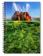 Green Fly Geyser Spiral Notebook