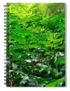 Green Foliage Spiral Notebook