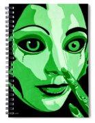 Green Forest Fairy Spiral Notebook