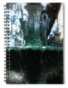 Green Fountain Spiral Notebook