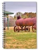 Green Frog Village Farm Implement Spiral Notebook