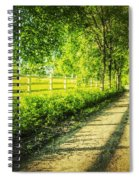 Green Gallop Spiral Notebook
