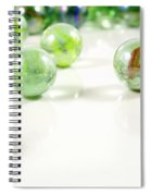 Green Glass Marbles Close-up Views Spiral Notebook