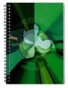 Green Glass Wheels Spiral Notebook