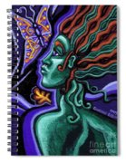 Green Goddess With Butterfly Spiral Notebook