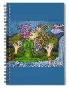 Green Goddesswith Waterfall2 Spiral Notebook