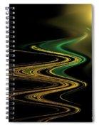 Green Gold Waves Spiral Notebook