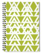 Green Graphic Diamond Pattern Spiral Notebook