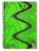 Green Grass Behind The Fence Spiral Notebook