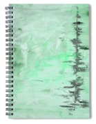 Green Gray Abstract Spiral Notebook