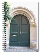 Green Guarded Door Spiral Notebook