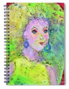 Green Hair Don't Care Spiral Notebook