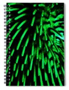 Green Hairy Blob Spiral Notebook