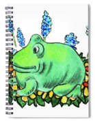 Green Happy Frog Spiral Notebook