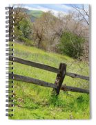 Green Hills And Rustic Fence Spiral Notebook