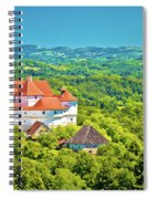 Green Hills Of Zagorje Region And Veliki Tabor Castle View Spiral Notebook