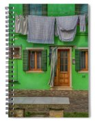 Green House And Hanging Wash_dsc5111_03042017 Spiral Notebook