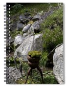 Green In Rock Garden Spiral Notebook