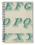 Green Italic Font Spiral Notebook