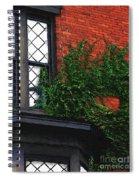 Green Ivy Garnet Brick Spiral Notebook