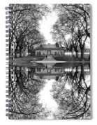 Green Lake Bathhouse Black And White Reflection Spiral Notebook