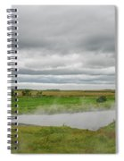 Green Landscape With Steamy River Spiral Notebook