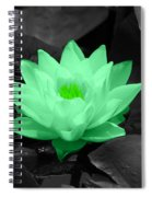 Green Lily Blossom Spiral Notebook